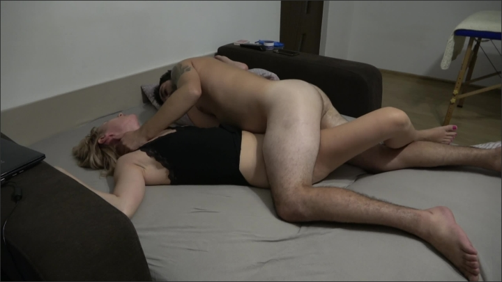 [WQHD] Black Lingerie Stepmommy Eat My Cum Please - Maria Vertigo - - 00:30:11 | Eating Sperm, Amateur, Stepmother - 588,1 MB
