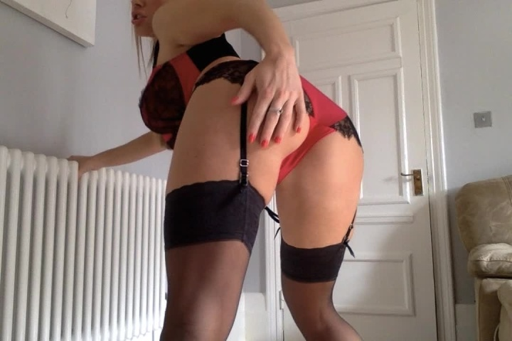 Misstiff Joi In Red Lingerie And Stocking