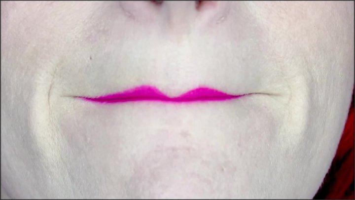 Mistress Harley Lip Fetish Tease