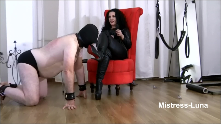 [Full HD] Boots Domination By Mistress Luna - Mistress Luna - - 00:08:58 | Shoe Boot Worship, Submissive, Slave Training - 253 MB