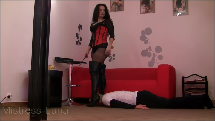 [Full HD] Boots Slave - Mistress Luna - - 00:13:15 | Worship Boots, Verified Amateurs - 295,8 MB
