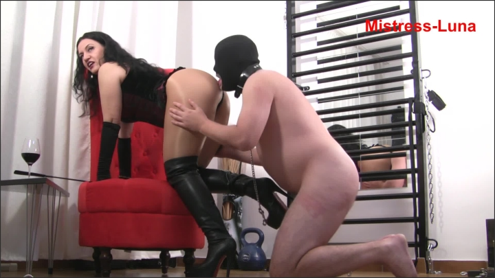 [Full HD] My Ass Must Be Worshiped - Mistress Luna - - 00:10:04 | Boots, Ass Kissing - 252,2 MB
