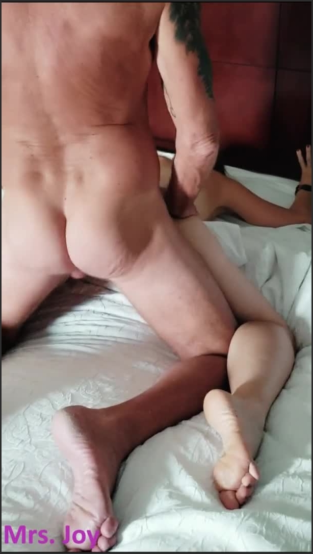 [SD] Huge Cock Fucks My Ass Mouth Pussy While Husband Enjoys - Mrs Joy - - 00:06:17 | Hotwife, Bareback, Slut - 71,5 MB
