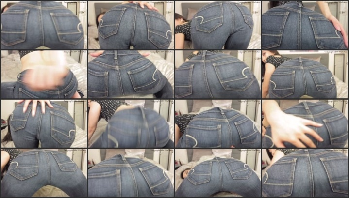 Denim Girl Sexy Curves And Tight Blue Jeans