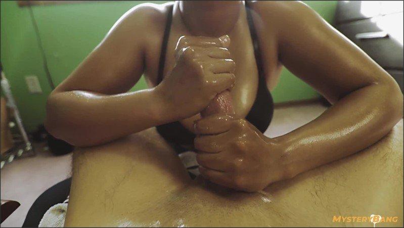 [Full HD] 40Min Arm Workout Hardcore Oil Handjob Edging Cumshot - MysteryBang - -00:39:38   Choking, Big Oiled Tits - 1 GB