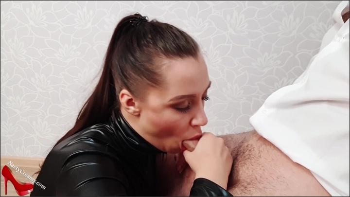 [Full HD] Sexy Girl In Latex Costume Blowjob Dick Hostage And Cum In Mouth - NastyCreamyx - - 00:07:23 | Close Up, Butt - 397,6 MB