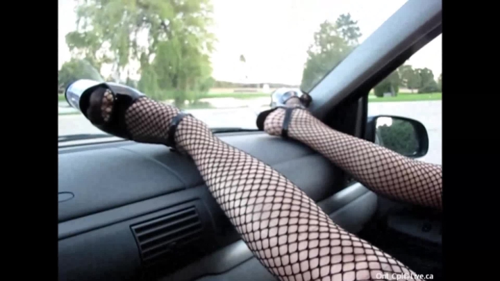 Naughty Christine Hi Heels On The Dash Fucking My Pussy