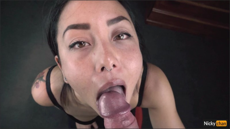 [Full HD] He Uses My Mouth And Cums On My Eye Hot Asian Blowjob  - Nicky-Chan - -00:12:20 | Licking, Exclusive, Asian - 270,7 MB