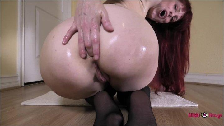 [WQHD] Redhead Fucks Her Ass In Black Stockings - Nikki Rouge - - 00:17:53 | Redhead, Exclusive, Masturbation - 341,4 MB