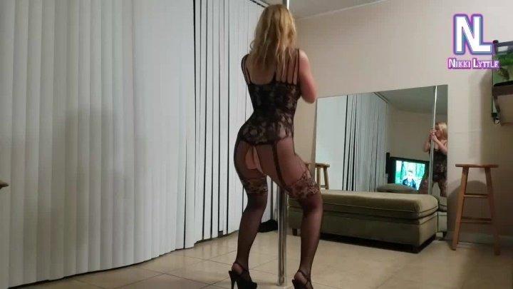 Nikkilyttle Pole Dancing In A Bodystocking