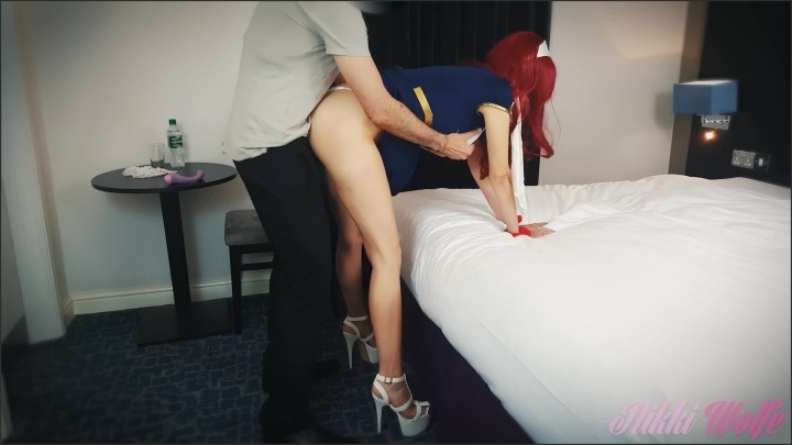 [Full HD] Hot Stewardess Let Angry Customer Fuck Her To Apologize For Delay - NikkiWolfe - - 00:12:00   Babe, British - 197,5 MB
