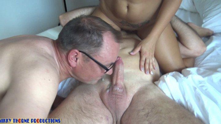Nikkythorne Prod Slave Girl Fucked Cuckold Lick The Cum