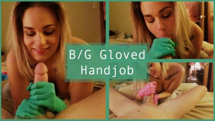 Nina Crowne Bg Gloved Handjob