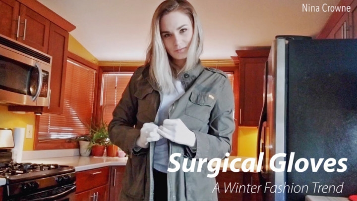 Nina Crowne Surgical Gloves A Winter Fashion Trend