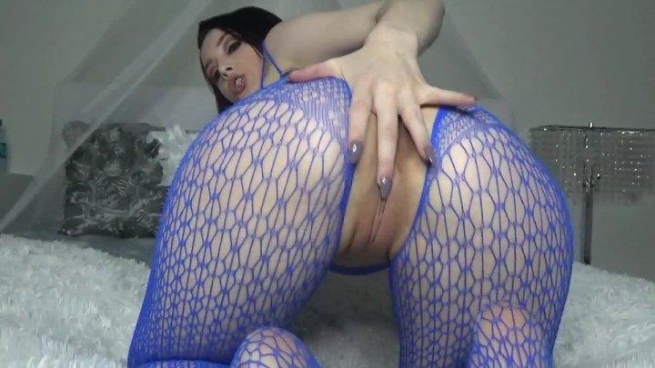 Noelleeastonxxx Intense Cum In Blue Bodysuit