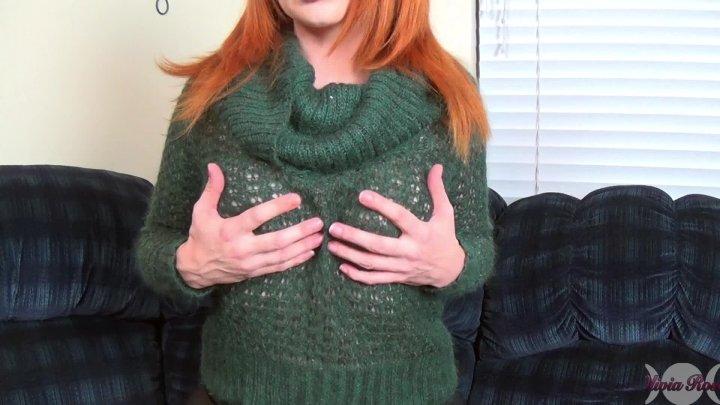 Olivia Rose See Through Sweater Tease