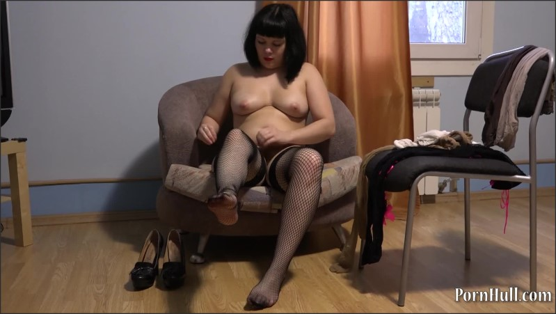 [Full HD] A Brunette Tries On Nylon Pantyhose Feet Fetish  - Porn-Go - -00:15:54 | Little Tits, Young, Feet Fetish - 627,5 MB