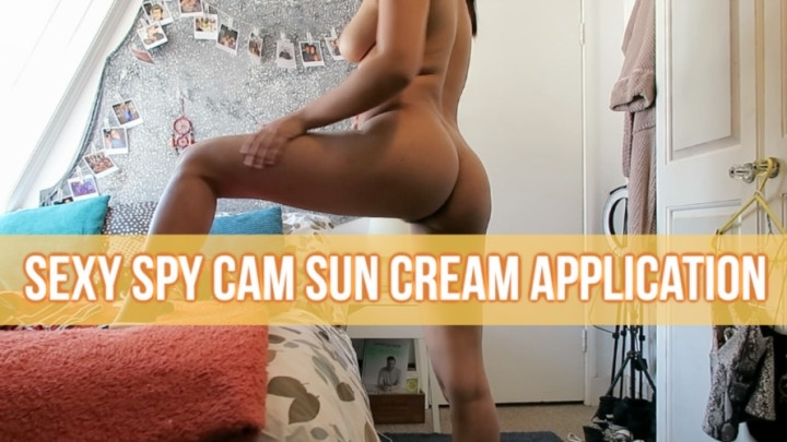 Princesslix Sexy Spy Cam Sun Cream Application