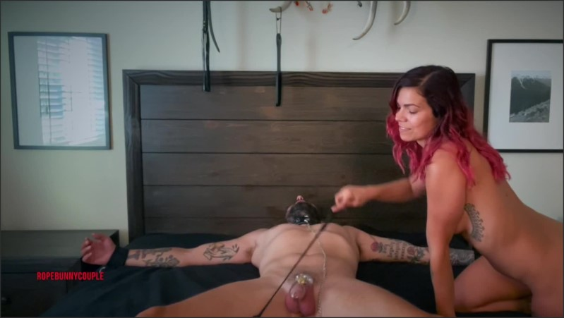 [Full HD] Chastity Goddess Teases Slave Facesits And Cums On Him  - RopeBunnyCouple - -00:11:02 | Red Head, Pussy Licking, Femdom - 202,9 MB