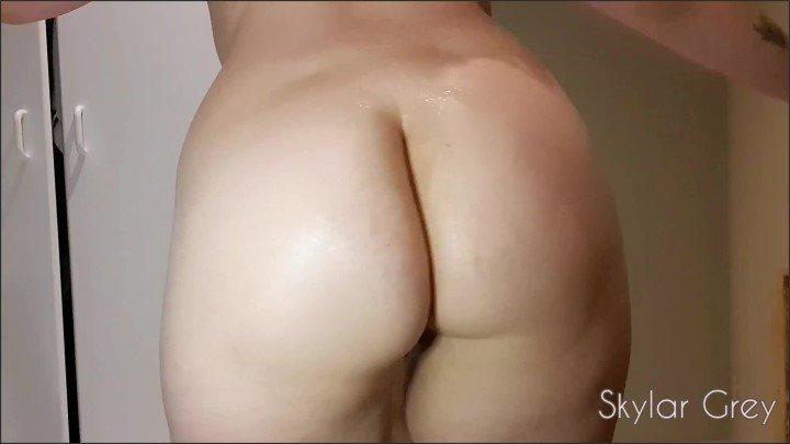 [Full HD] Oily Pussy Play - Skylar Grey - - 00:06:54 | Toys, Brunette - 324,3 MB