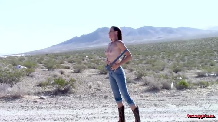 Sofie Marie Overall Strip In The Desert