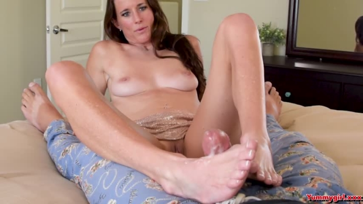 Sofie Marie Step Mom Gives Son Foot Job