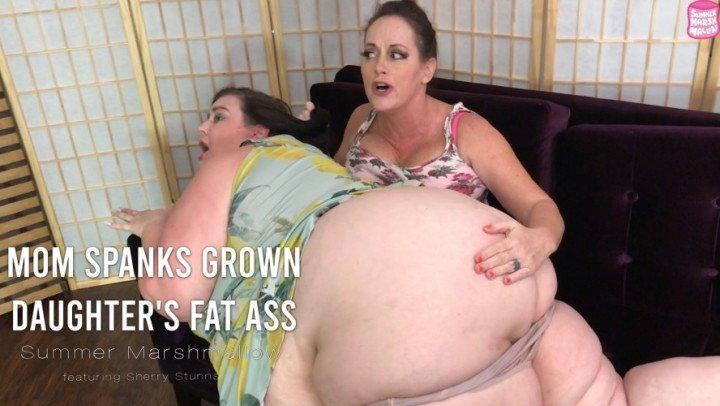 Summer Marshmallow Mom Spanks Grown Daughters Fat Ass