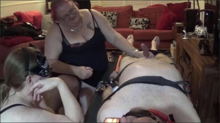 [Full HD] Double Domme No Safewords With Post Orgasm Torture Part 4 Of 4 - TOPofthePOT - - 00:22:58   Bondage, Handjob - 438,2 MB