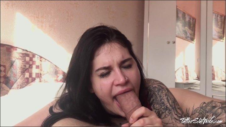 [Full HD] Sexy Babe Hard Deepthroat And Cum On Face - TattooSlutWife - - 00:26:39 | Hardcore, Hard Rough Sex - 615,4 MB