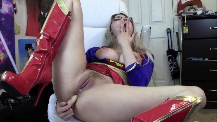 Supergirl Fucks Her Ass For Mfc
