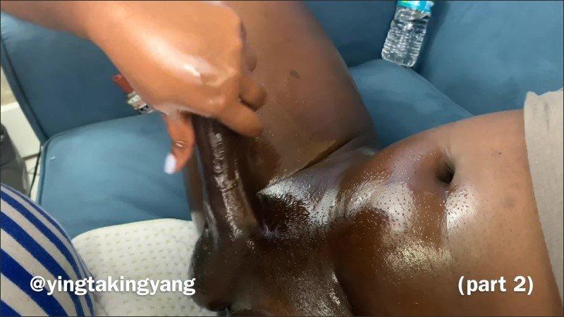 [WQHD] Big Black Cock Worship Oil Massage Edition Full Movie Parts 1 3 - YingTakingYang - -00:33:03 | Hot, Oil Massage, Big Dick - 1,5 GB
