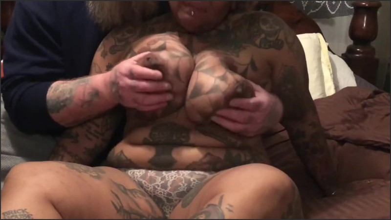 [HD] Ebony Bondage Tattooed Bbw Milf Likes It Rough  - Ahappycouple - -00:12:41 | Tied Up, Black Girl White Guy - 139 MB