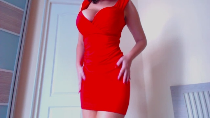 [HD] Flybigtitsnow Lady In Red  - Flybigtitsnow - ManyVids - 00:15:08 | Huge Boobs, Pussy Spreading - 337,7 MB
