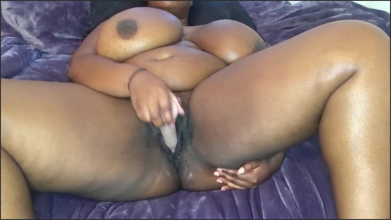 Ebony Throwing Pussy Back