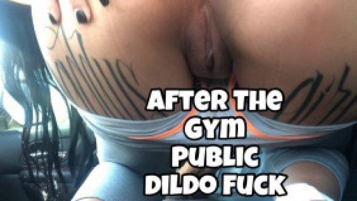 Kinkyjasmine After The Gym Public Dildo Fuck