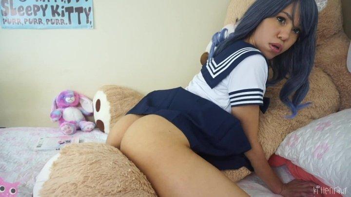 Kittenrawr Sch--L Girl Pillow Hump