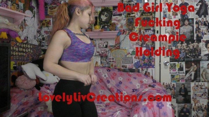 Lovelyliv Bad Girl Yoga Fucking Creampie Holding