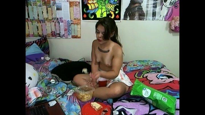 Lovelyliv Tiny Girl Topless Face Stuffing