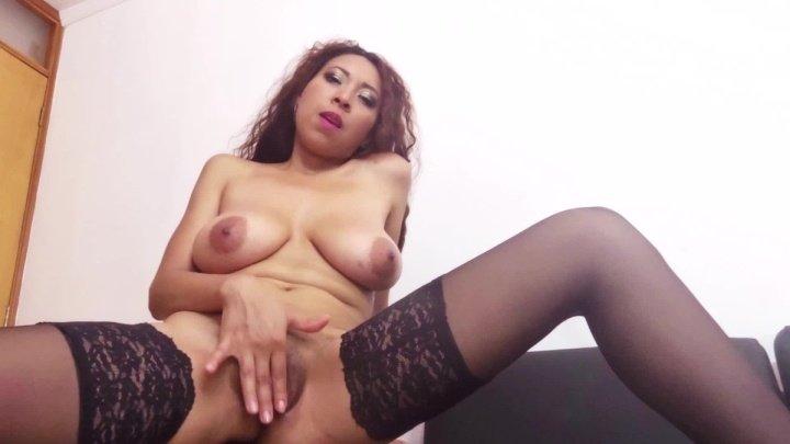 Luciarayne Black Stockings Strip And Fingerbang