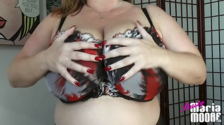 Maria Moore Bra Tease For Your Bra Fetish