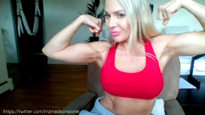 Miss Madison Bicep Amp Pec Flexing Muscle Worship
