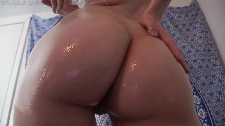 Oily Ass And Tits With Dildo Fucking
