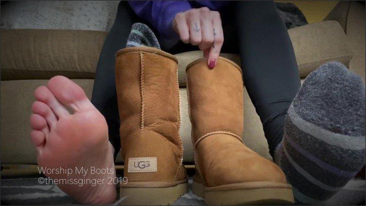 [Full HD] Worship My Boots - TheMissGinger - - 00:09:21 | Small Tits, Feet, Joi - 209,9 MB