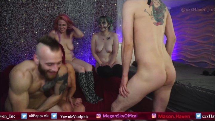 [WQHD] Halloween Group Madness - XxxHaven - - 01:09:20 | Big Cock, Big Tits - 2,1 GB